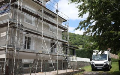 Rénovation de façade à Saulxures