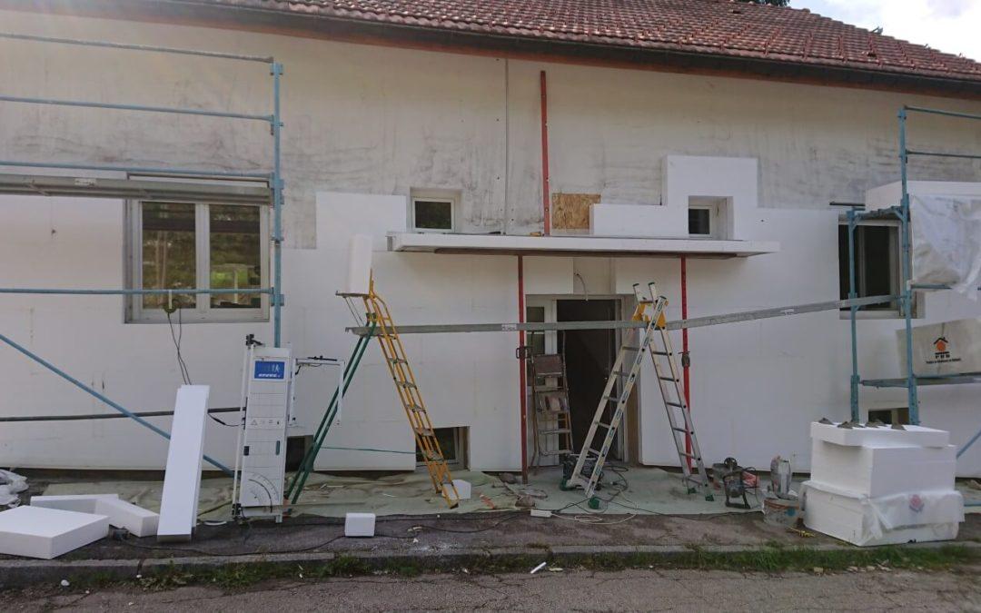Isolation extérieure à La Bresse